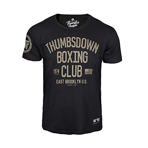 Thumbs Down Boxeo Palo Camiseta Oriente Brooklyn U. S. MMA. Gimnasio Entrenamiento....