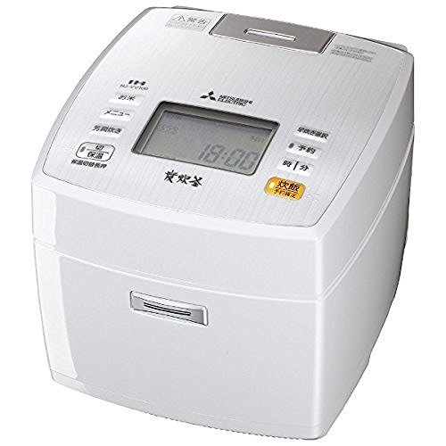 三菱電機 IHジャー炊飯器 備長炭炭炊釜 5.5合炊き ピュアホワイト NJ-VV106-W