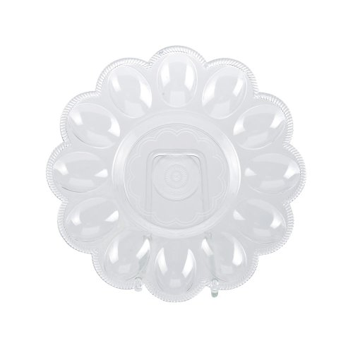 TOP STAR - Eierteller für 12 Eier 24 cm rund transparent