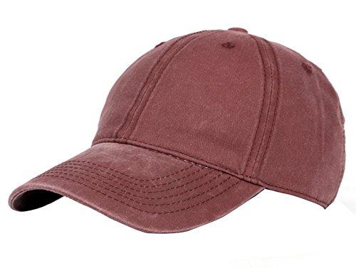 Wicemoon - Gorra de béisbol - para Hombre Rojo Vino