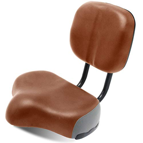"MOONCOOL Backrest Saddle Bike Seat with Backrest, 11.5"" x 9.5"" Bicycle Tricycle Saddle Seat with Back Support, Oversize Comfort Saddle with Back Rest"