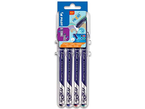 "PILOT FriXion Fineliner, radierbar, 4er ""Set 2 Go"" Classic"