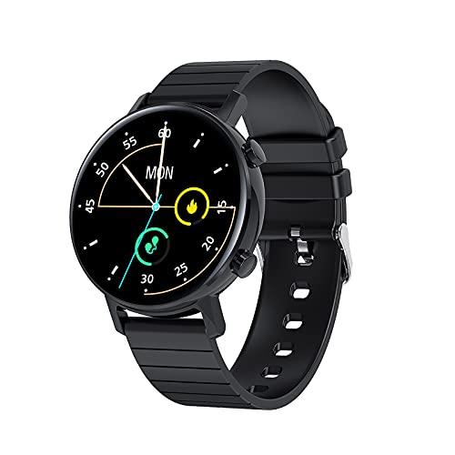 Reloj inteligente, reloj inteligente para hombres, mujeres, IP68, rastreador de actividad a prueba de agua, con pantalla táctil a color, rastreador de actividad con podómetro de calorías / recordato
