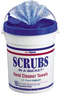 Dymon Scrubs in A Bucket Hand Cleaner Towels 72 Count