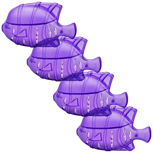 Ancmaple Universal Humidifier Tank Cleaner Fish for Water Treatment, Protects Humidifier Against Odor, Compatible with Most Humidifier (Fish-4 pcs, Purple)