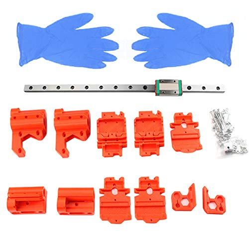 spier 3D Printer Accessories (Compatible for Prusa Mk3s X-axis), Linear MGN12H Rail Upgrade Kit without Prints