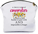 Co-worker leaving gift for Female coworker -farewell gifts going away gift -New Job Gifts - Goodbye Gifts-Appreciation gifts- for women coworkers Colleague employees- Makeup Bag by FARMHOWESS -MB147