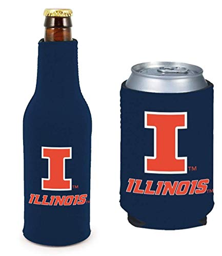 Set of 2 Illinois CAN & Bottle Cooler