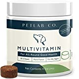 Petlab Co. Dog Multivitamin Supplement with All in 1 Support | Vitamins E, D, A, B Iron Zinc Copper | Chewable Dog Vitamins 16 Antioxidants Minerals & Nutrients