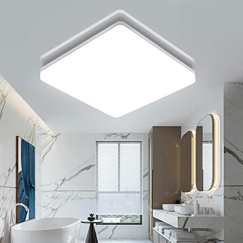 Oeegoo LED Deckenlampe 18W, 1800Lm Deckenleuchte Naturalweiß, IP44 LED Deckenleuchte Für Küche, Schlafzimmer, Kinderzimmer, Balkon, Carports, Flur, Garten, Keller 4000K