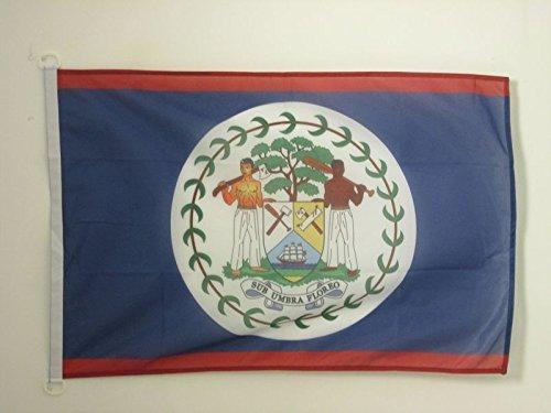 AZ FLAG Bandera de Belice 90x60cm Uso Exterior - Bandera BELICEÑA 60 x 90 cm Anillos