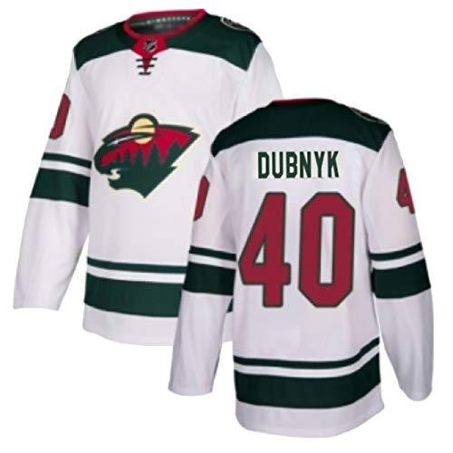 DSASAD Hockey Jersey, Wildnis-Team STAAL12 KOIVU9 DUBNYK40 PARISE11 SUTER20 Hockey Jersey, 100% Polyester, wiederholtes Waschen, Wahl der Geschenke White40-S