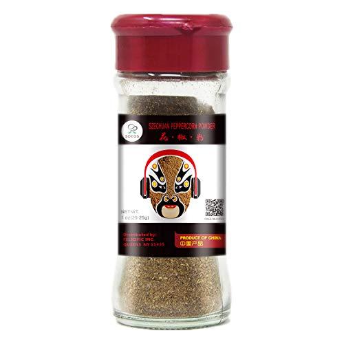 Soeos Szechuan Peppercorn Powder, Sichuan Peppercorn Powder, Ground Sichuan Green Peppercorns, Green Sichuan Peppercorn Powder, Mapo Tofu Essential Ingredient, 1 oz.