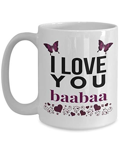 N\A Taza Japonesa del té del café de la Mariposa púrpura de la Abuela te Amo Baabaa