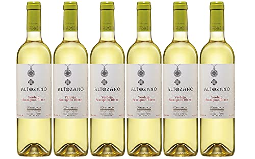 Altozano Verdejo Sauvignon Blanc Vino Blanco - 6 Paquetes de 750 ml - Total: 4500 ml
