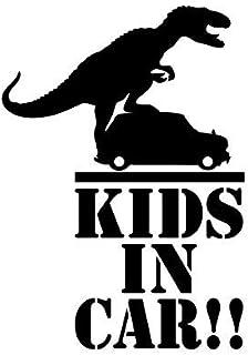 吉ダ 怪獣が乗ってる!? Kids (baby) in car イン カー カッティング ステッカー 恐竜 ティラノ T-REX ティラノサウルス / アウトドア ミリタリー ...