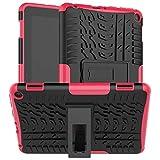 QiuKui Tab Funda para Amazon Fire HD 8/8 Plus 2020, Tapa de protección Protectora Hybrid TPU de TPU de TPU TPU Resistente para Amazon Fire HD 8/8 Plus 2020 (Color : Rose)