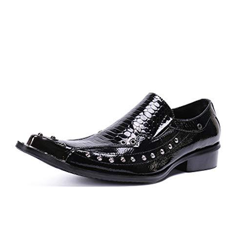 XWDQ heren business schoenen casual lederhandel Low-Cut-schoenen jurk pak mannen flut schoenen enkele schoenen
