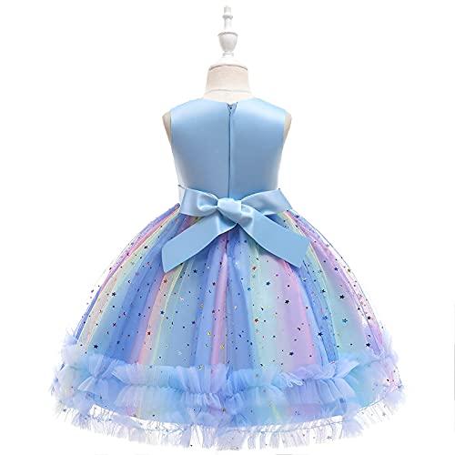 Kobay Frühling und Sommer Baby Mädchen Festzug Spitze Stickerei Kleider Kleinkind Abendkleid Prinzessin Kleid