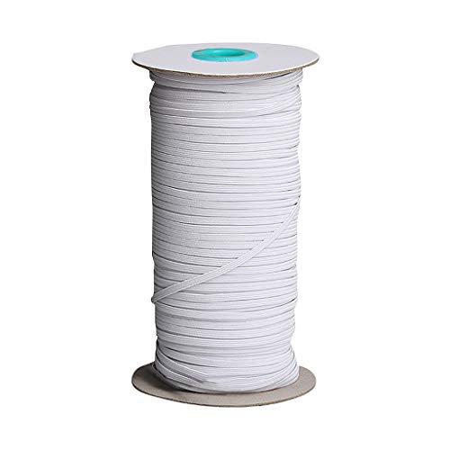Faplu クラフト製品のゴムバンド, フェイス顔の保護の幅のためのゴムひもはゴムひもの広いロープ150m / 6mmを作ります家庭用自作服縫製丈夫な編みベルトゴムバンド