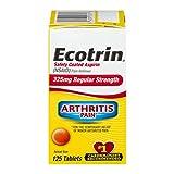 Ecotrin 325 mg Regular Strength Tablets 125 ea (Pack of 3)