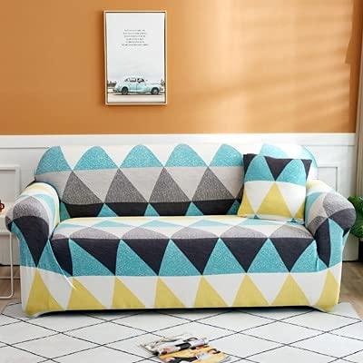 Fundas de sofá de Esquina de Color de impresión para Sala de Estar Fundas de Spandex elásticas Funda de sofá Toalla de sofá elástica A15 1 Plaza
