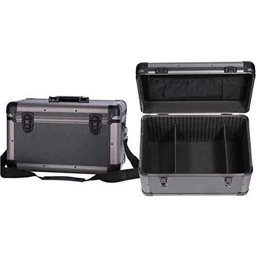 XBSXP Aluminium Hairdressing Toolbox Storage Bag Professional Large Capacity Salon Tool Case, Tool Box empty, individual compartments, Lockable