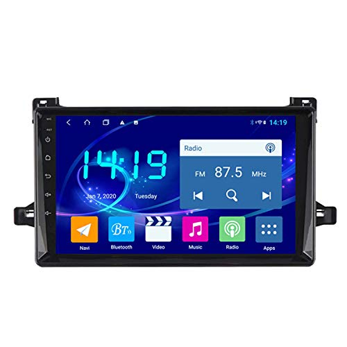 BBGG 原文 GPS 4GB + 64G Navegación por satélite estéreo para automóvil de 10 Pulgadas con teléfono Manos Libres Bluetooth/Video de Marcha atrás/Radio DVD/FM/Am/WiFi, Adecuado para Toyota Prius 2016
