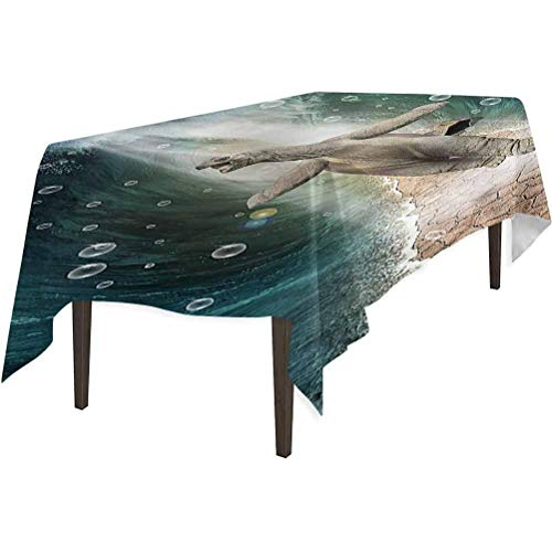 Aishare Store - Mantel, diseño de tortuga de animales en el océano, impermeable para cocina, 132 x 177 cm