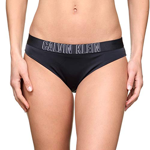 Calvin Klein Damen Classic Bikini-HR Bikinihose, Schwarz (Pvh Black 094), Medium