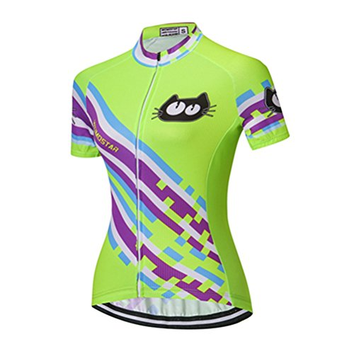 Maillot De Ciclismo Verde  marca Weimomokey