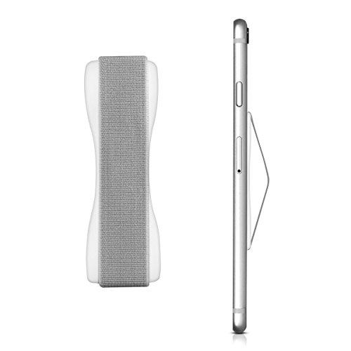 kwmobile Smartphone Fingerhalter Handgriff Halter - Selbstklebende Handy Fingerhalterung - Finger Halter kompatibel mit iPhone Samsung Sony Handys Weiß