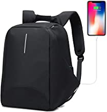 Anti-Theft Business Laptop Backpack with USB Charging Port Fits to 15.6 Inch Computer Lightweight Water-Resistant Knapsack Black1 CB0405