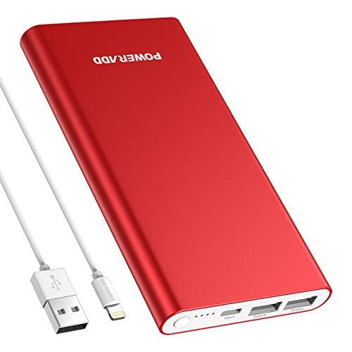 POWERADD Pilot 4GS 12000mAh Powerbank Handy Ladegerät, Speziell für iPhone X, XS, XR, 8, 7, 7 Plus, 6, 6 Plus, 6s, 5, 5s, 5c