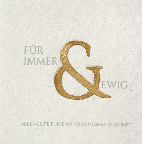 Räder Hochzeitsgrußkarte Für Immer und ewig 14x14cm