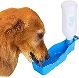 YUESEN Bottiglia per Cani Portatile Dispenser di Acqua per Cuccioli Portatile a Tenuta stagna con Alimentatore per Passeggiate all'aperto Pet per Bere all'aperto Tazza Plastica 500ml Colore Casuale