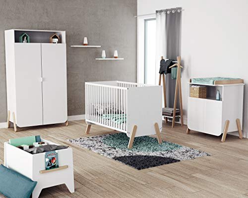 AT4- Chambre Complète PIRATE Blanc et Hêtre