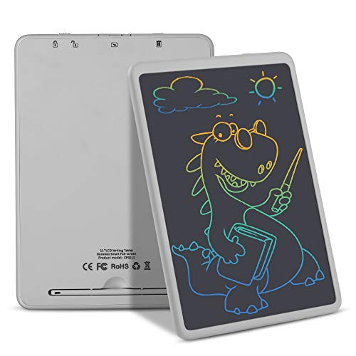 LCD Writing Tablet, 11 Inch Electronic Writing and Drawing Board, Erasable Reusable Doodle Pad Tablet for Kids and Adults at Home, School, Office (Grey)