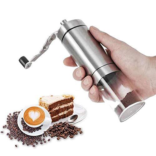 YLLN Macchina da caffè, macinacaffè Manuale Portatile in Acciaio Inossidabile, 40G, Facile da Pulire