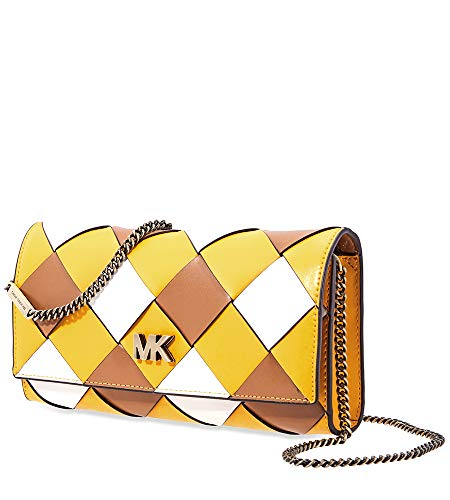 Michael Kors Mott Woven Leather East West Clutch, Multi