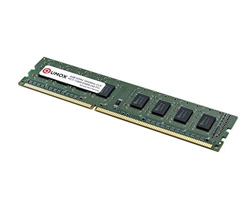 QUMOX 4GB DDR3 1600 PC3-12800 PC-12800 (240 PIN) DIMM Desktop Memoria XMP CL9 para computadora escritorio PC