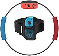 SUHAPPY for Ring Fit Adventure Nintendo Switch Exercise Fitness Game Joycon Adapter,1 Switch Leg Strap and 2 Ring-Con Grips