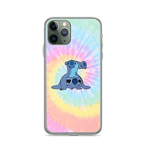 Roadiress Tie Dye Stitch Compatible con iPhone 12/12Pro MAX 12 Mini 11 Pro MAX XR XS/XsMax SE 2020 7 8 6/6s Plus Huawei Samsung Series Funda Protectora