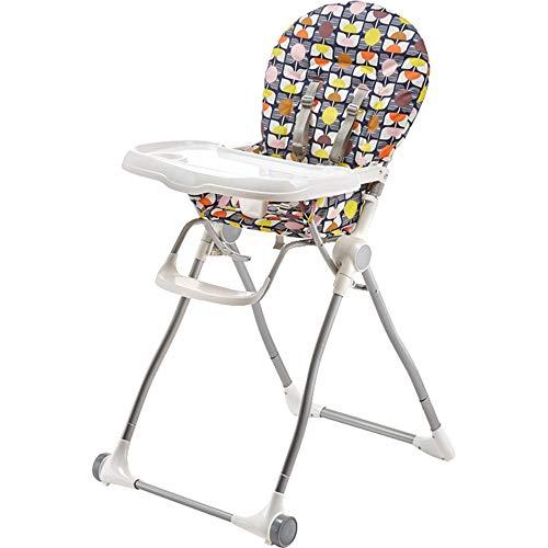 ZCFXGHH Kinderstoel met verstelbare hoge stoel, draagbare eettafel, babyvouwstoel, kinderstoel