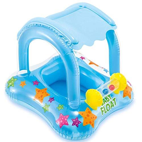 Cozywind Baby Schwimmring mit Abnehmbarem Sonnenschutz,Babyschwimmen,Baby Schwimmtrainer,Aufblasbarer Schwimmreifen für Babys