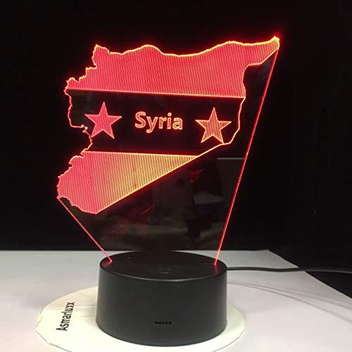 yuandp Macedonië kaart 3D LED nachtlampjes nachtslaap licht geschenken 7 kleuren veranderen USB slaapkamer decor vorm tafellamp