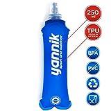YANNIK Soft-Flask Flexible Trinkflasche 250ml Blau - Wasserflasche Sportflasche Auslaufsicher Antibakteriell BPA-frei - Sport Camping Laufen Radfahren Wandern Outdoor