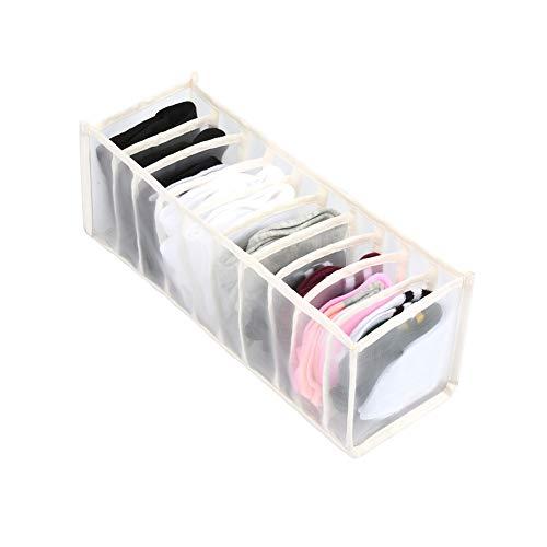 faltbare Unterwäsche Schublade Veranstalter Trennwände Schrank Schrank Kleiderschrank Veranstalter Aufbewahrungsbox für BHs Schals Krawatten Socken Boxen (Weiß- 11 pockets, 32cm*12cm*12cm)