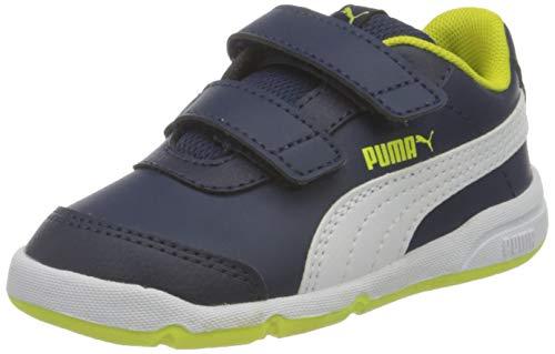 Puma Unisex Baby STEPFLEEX 2 SL VE V INF Sneaker, Peacoat White Yellow, 22.5 EU