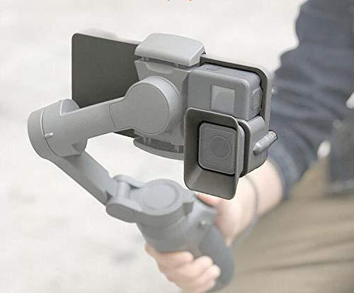 Honbobo Piastra di montaggio Adattatore per Gopro 7/6/5/4/3 + / Osmo Action su DJI Osmo Mobile 3/OM 4 Gimbal (for Gopro)